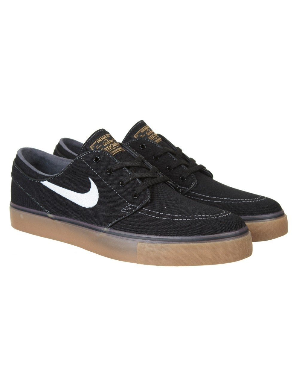 footwear uk cheap sale sports shoes Stefan Janoski Shoes - Black/Gum Sole