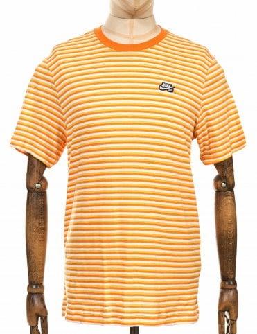 013a0d86f82e Nike SB Striped Tee - White Cinder Orange