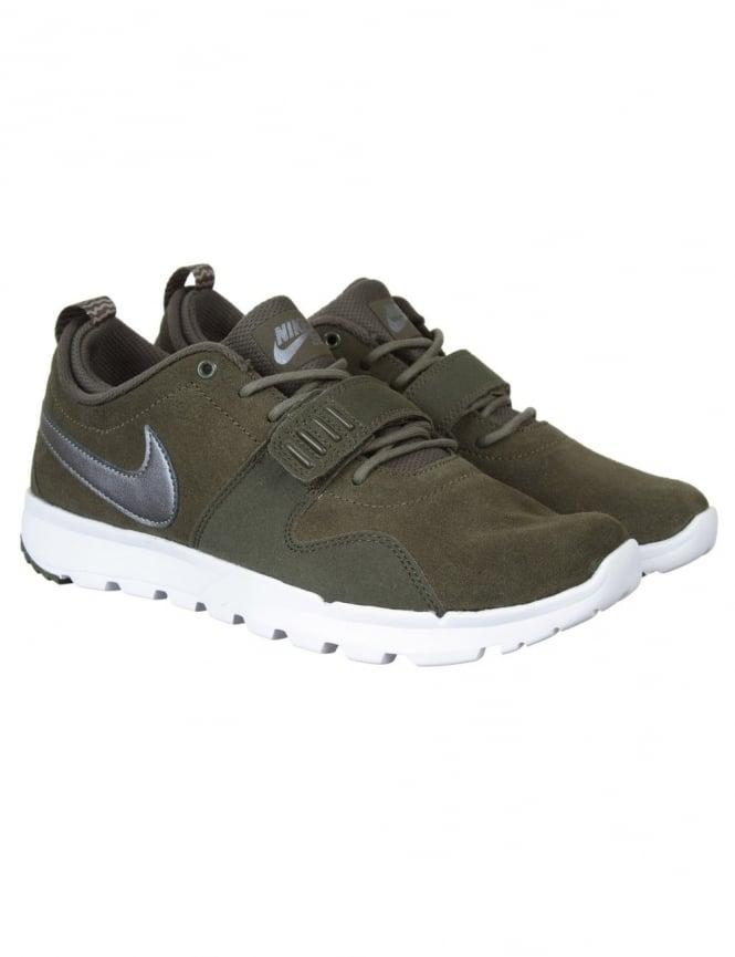 Nike SB Trainerendor L Shoes - Khaki/White