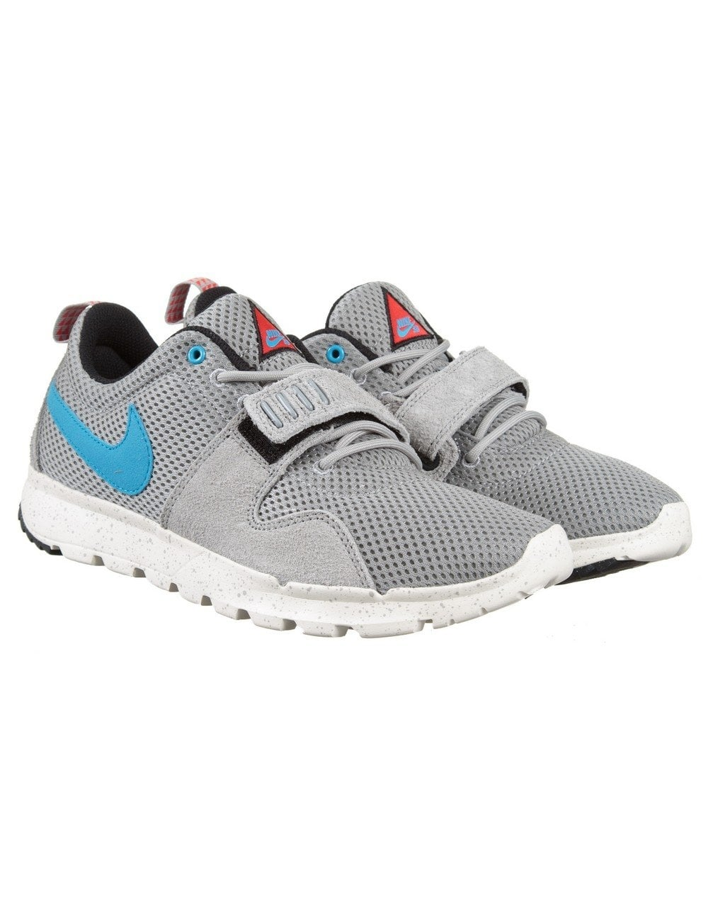 11ccd1fb69c5 Nike SB Trainerendor Trainers - Base Grey/Vivid Blue - Footwear from ...