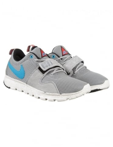 Nike SB Trainerendor Shoes - Base Grey/Vivid Blue