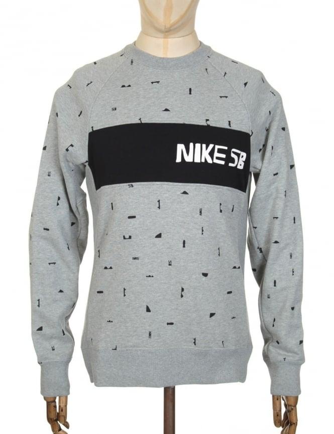 Nike SB x CH Everett Sweatshirt - Dark Grey Heather/Ivory