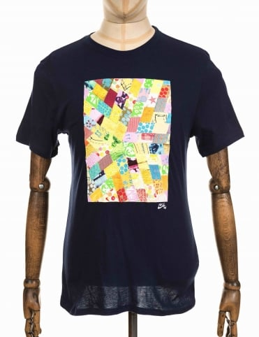 x Thomas Campbell Quilted Logo T-shirt - Obsidian