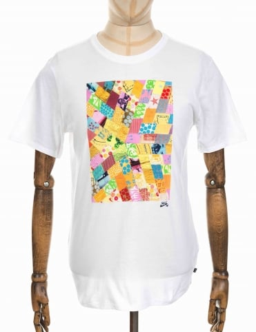x Thomas Campbell Quilted Logo T-shirt - White