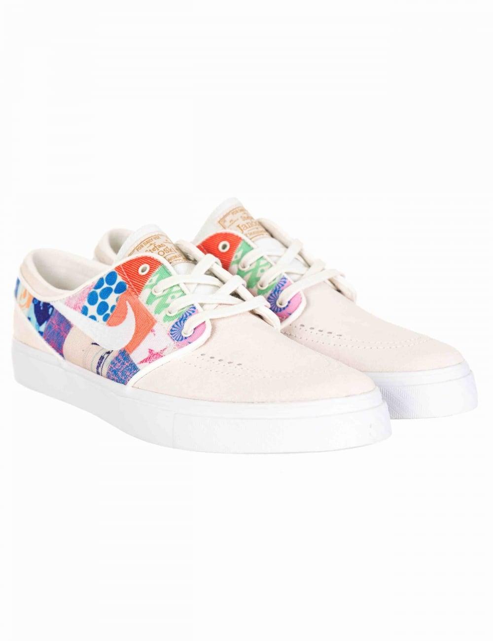 b6867269485 Nike SB x Thomas Campbell Stefan Janoski Shoes - Sail White Multi ...