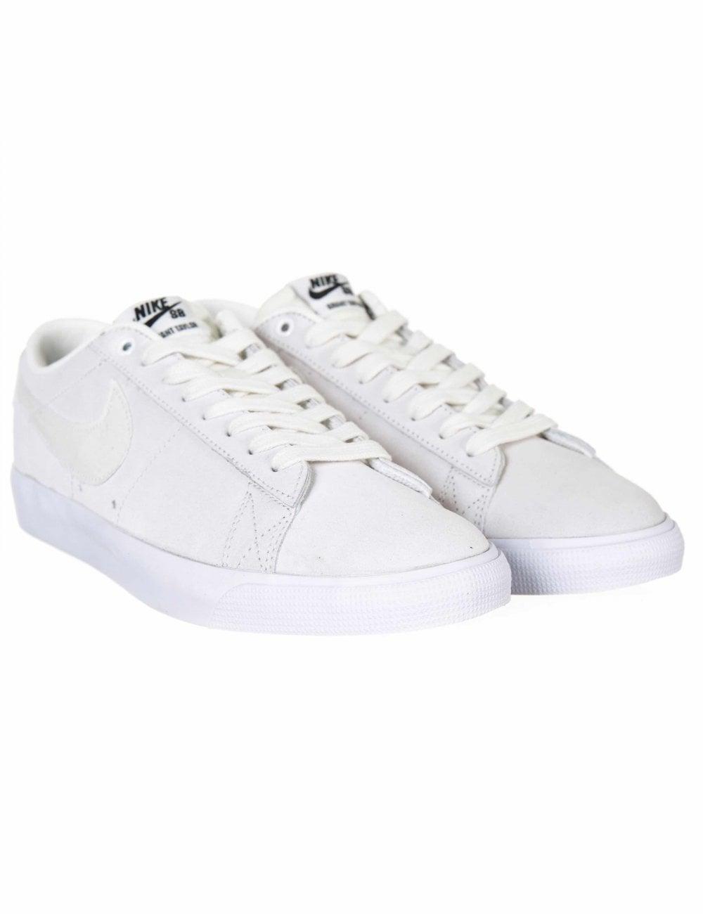 80f1562cb70b Nike SB Zoom Blazer Low GT Shoes - Summit White - Footwear from Fat ...