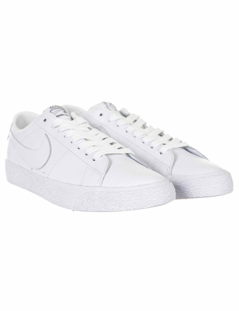 7b15556858b2 Nike SB Zoom Blazer Low NBA Trainers - White - Footwear from Fat ...