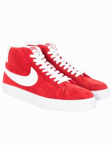 Zoom Blazer Mid Shoes - University Red/White