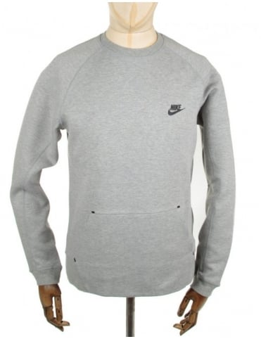Nike Tech Fleece Crewneck Sweat - Grey