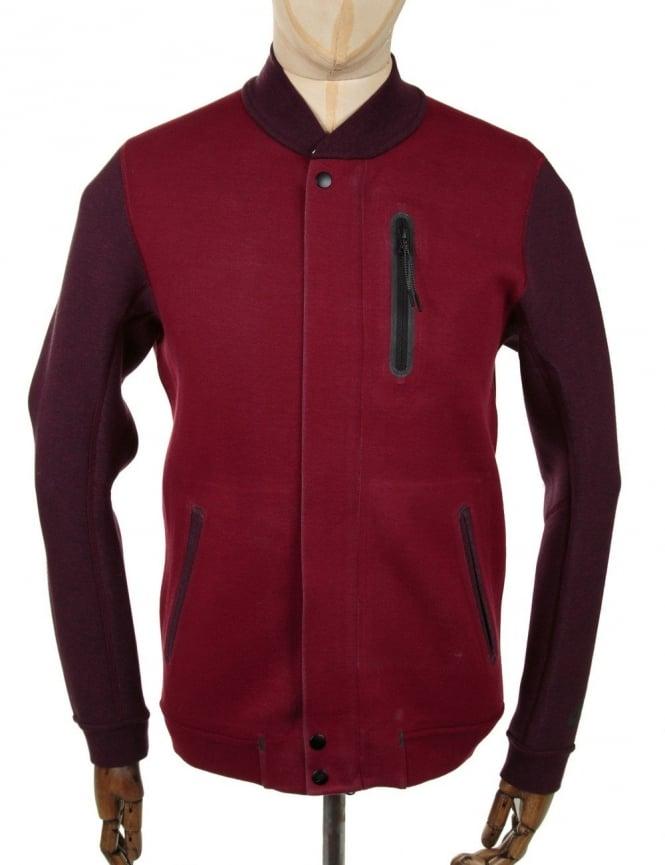 Nike Tech Fleece Varsity Jacket - Red