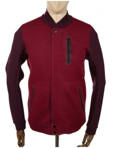 Nike Tech Fleece Varsity Jacket - Red