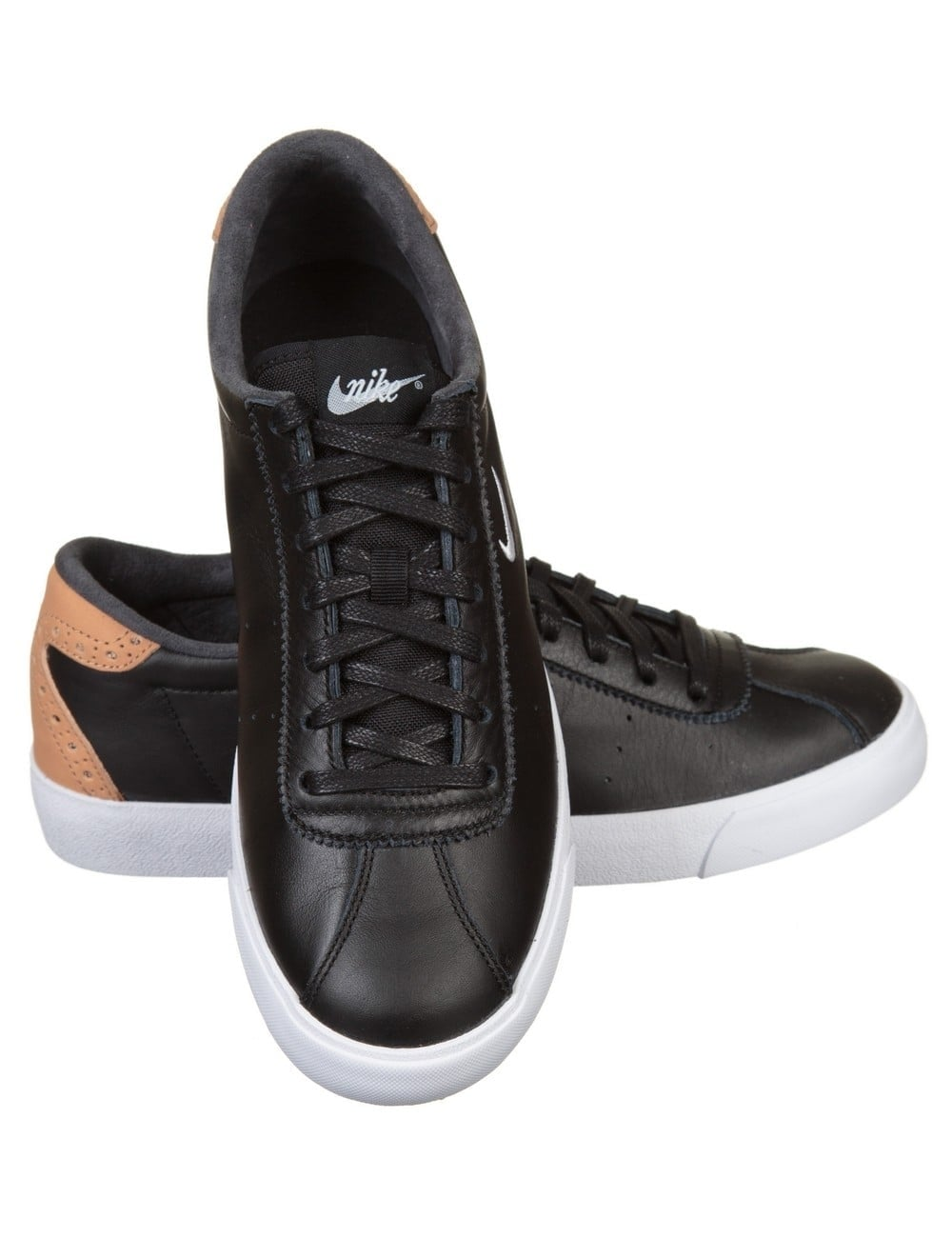 Nike Tennis Match Classic Shoes - Black/White - Nike from ...