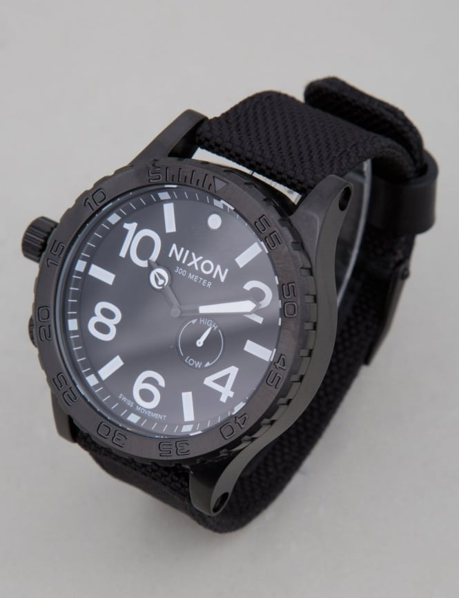 Nixon 51-30 Tide Watch - All Black Nylon