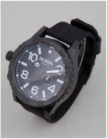 51-30 Tide Watch - All Black Nylon
