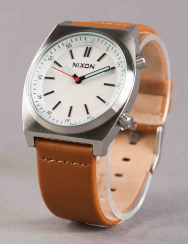 Brigade Leather Watch - Cream/Taupe