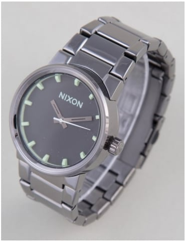 Nixon Cannon Watch - Polished Gunmetal/Lum