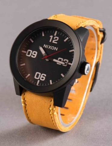 Corporal Watch - All Black/Goldenrod