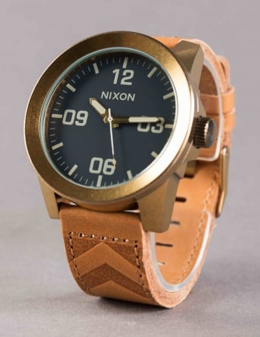 Corporal Watch - Brass/Navy/Hickory