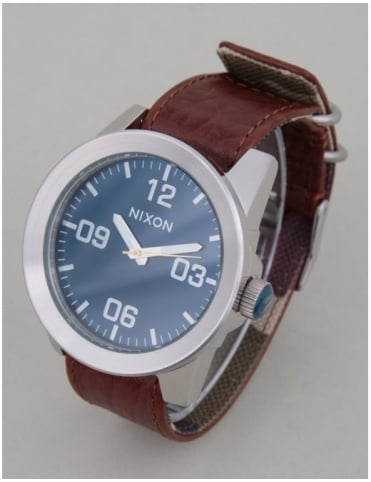 Nixon Corporal Watch - Brown/Blue Sunray
