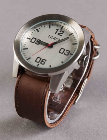 Corporal Watch - Silver/Brown