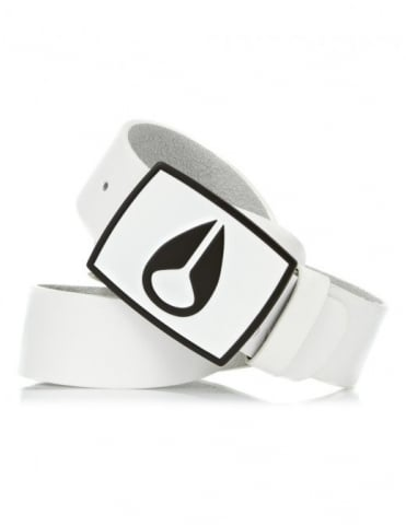Nixon Enamel Icon Belt - Wht/Black