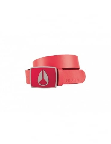 Enamel Icon Women's belt - Coral