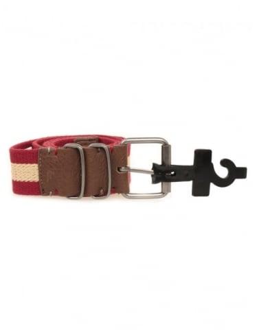 Nixon Morris Belt - Dark Red