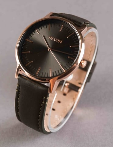 Porter Leather Watch - Rose Gold/Gunmetal/Surplus