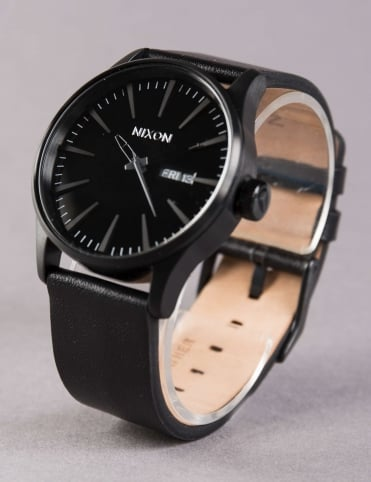 Sentry Leather Watch - All Black