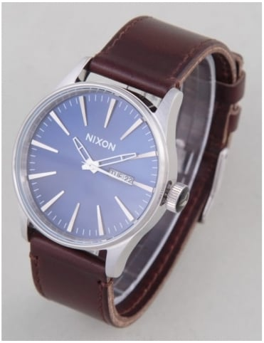 Sentry Leather Watch - Blue/Brown