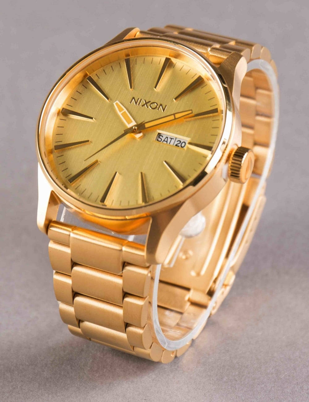 21c72ea2baa Nixon Sentry SS Watch - All Gold - Accessories from Fat Buddha Store UK