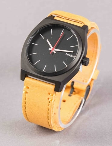 Time Teller Watch - All Black/Goldenrod