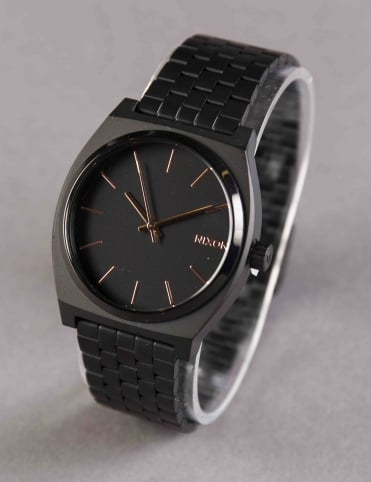 Time Teller Watch - All Black/Rose Gold