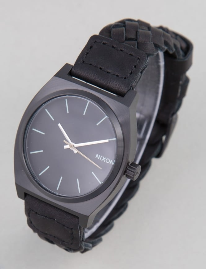 Nixon Time Teller Watch - All Black Woven