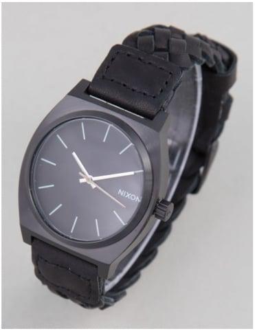 Nixon Time Teller Watch - All Black Woven
