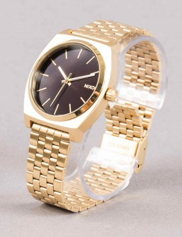 Time Teller Watch - All Gold/Black Sunray