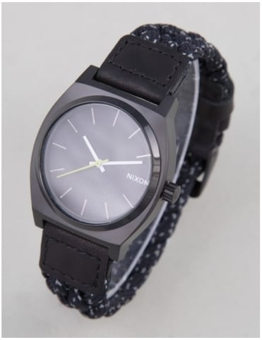 Time Teller Watch - Black/Reflective Woven