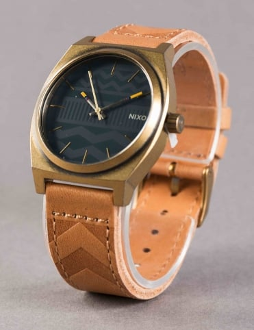 Time Teller Watch - Brass/Navy/Hickory