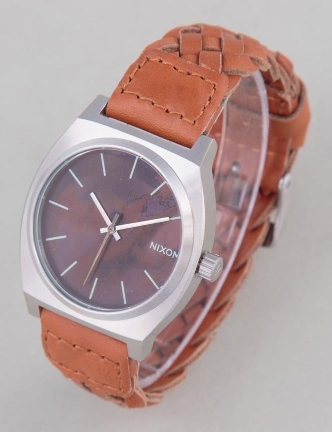 Nixon Time Teller Watch - Dark Copper/Saddle Woven