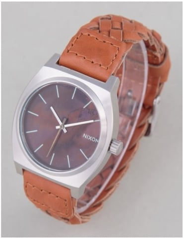 Time Teller Watch - Dark Copper/Saddle Woven