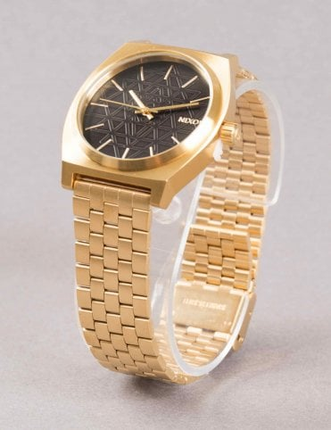 Time Teller Watch - Gold/Black/Stamped