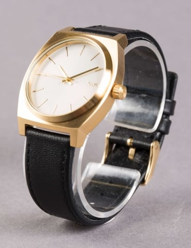 Time Teller Watch - Gold/White Sunray/Blk