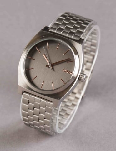Time Teller Watch - Gray/Rose Gold
