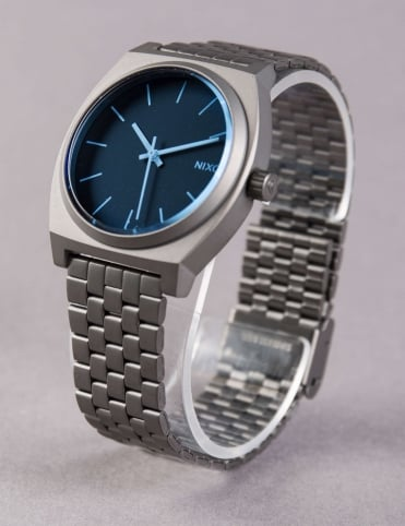 Time Teller Watch - Gunmetal/Blue Crystal