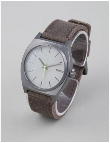 Time Teller Watch - Gunmetal/Brown