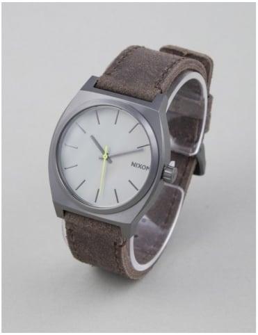 Nixon Time Teller Watch - Gunmetal/Brown