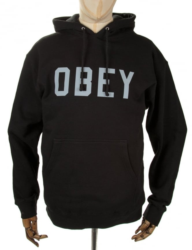 Obey Clothing 3M Collegiate Hooded Sweat - Black