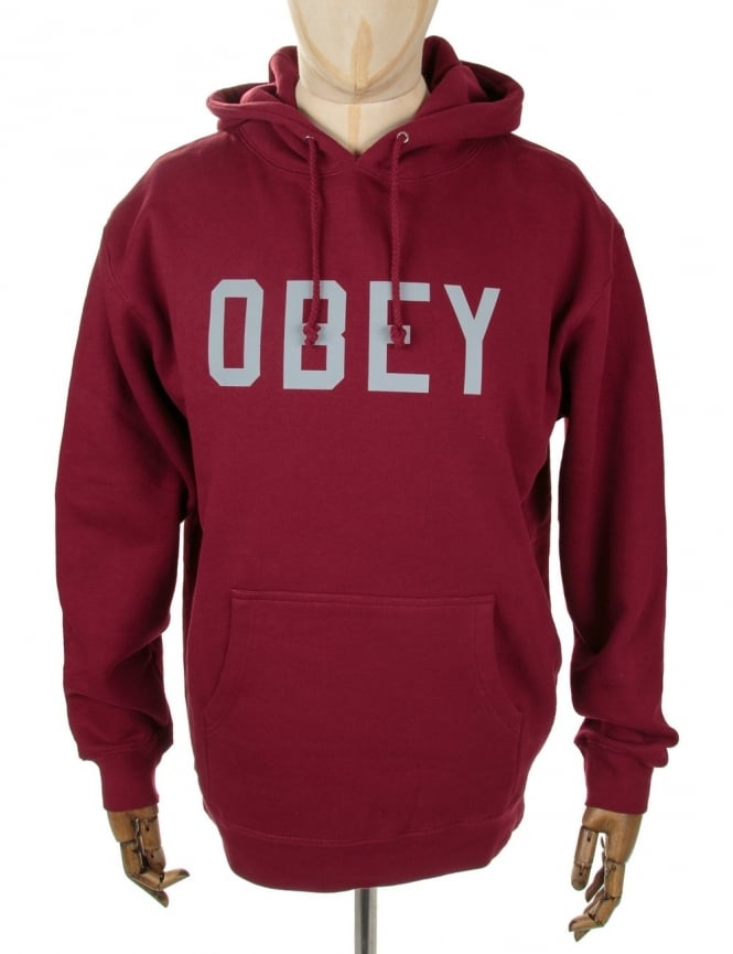 Obey Clothing 3M Collegiate Hooded Sweat - Cardinal Red