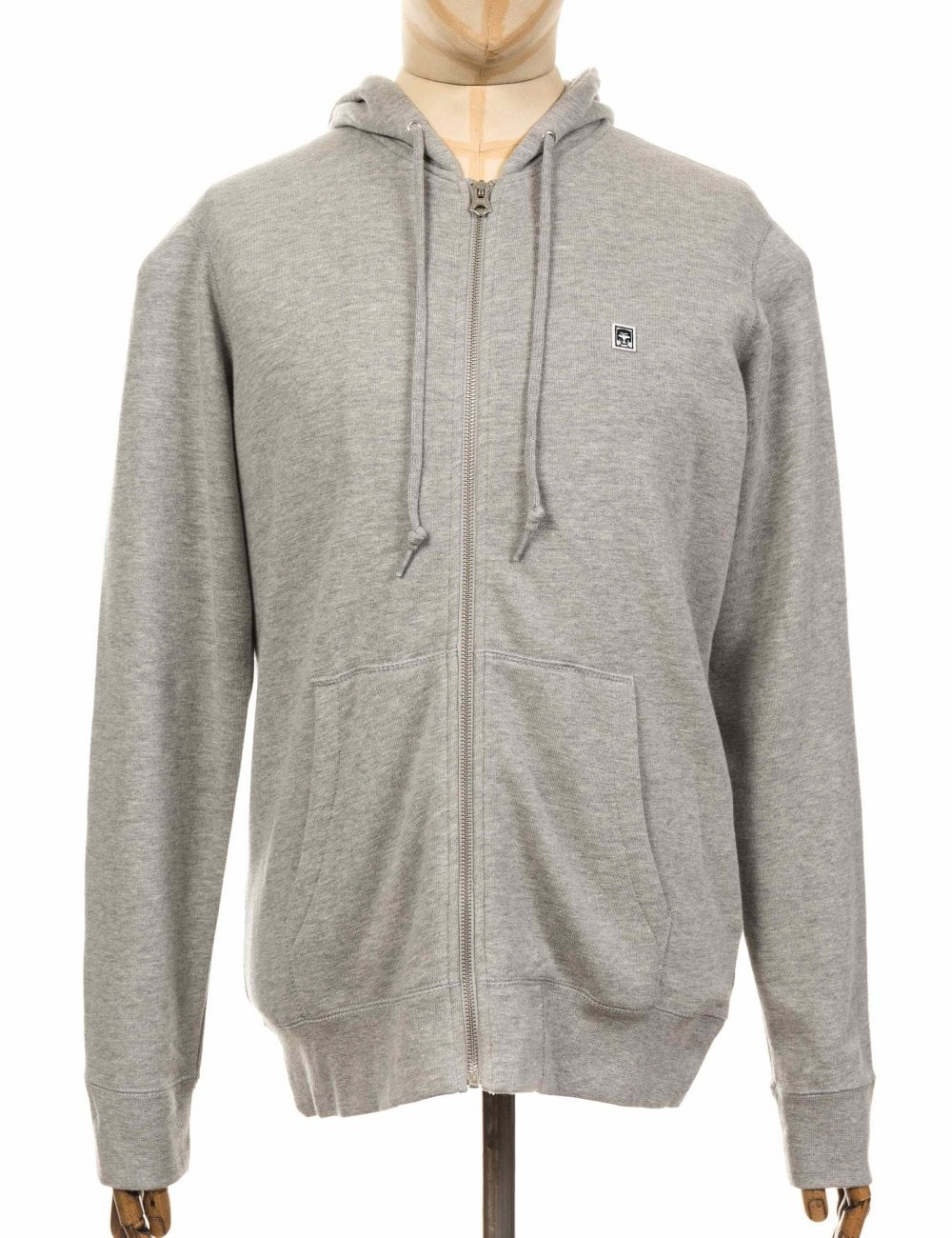 89 Icon Zip Hooded Sweatshirt Grey Heather