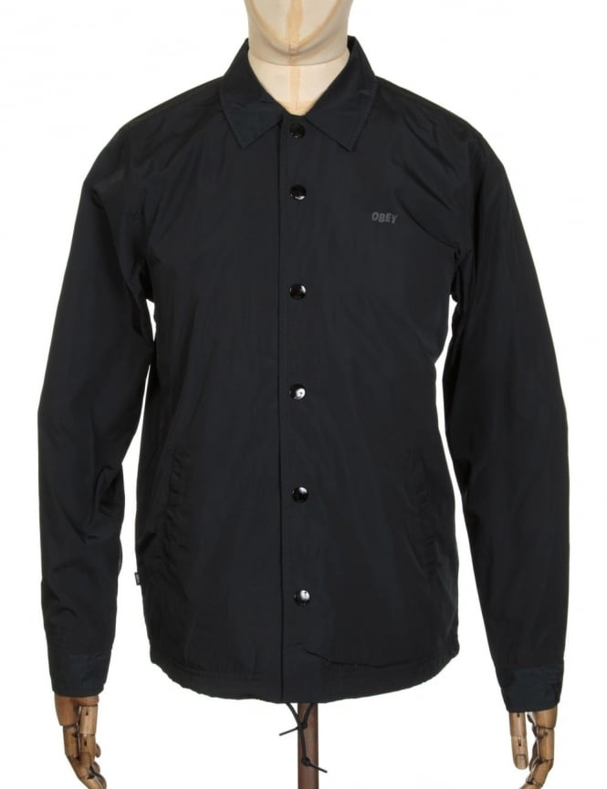 Obey Clothing Baker Graphic Jacket - Black